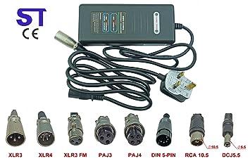 36 V 2 A litio Li-ion, LiFePO4 cargador de batería para bicicleta eléctrica Scooter movilidad silla de ruedas silla carrito de Golf carros: Amazon.es: ...