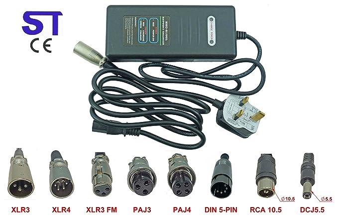 36 V 2 A litio Li-ion, LiFePO4 cargador de batería para ...