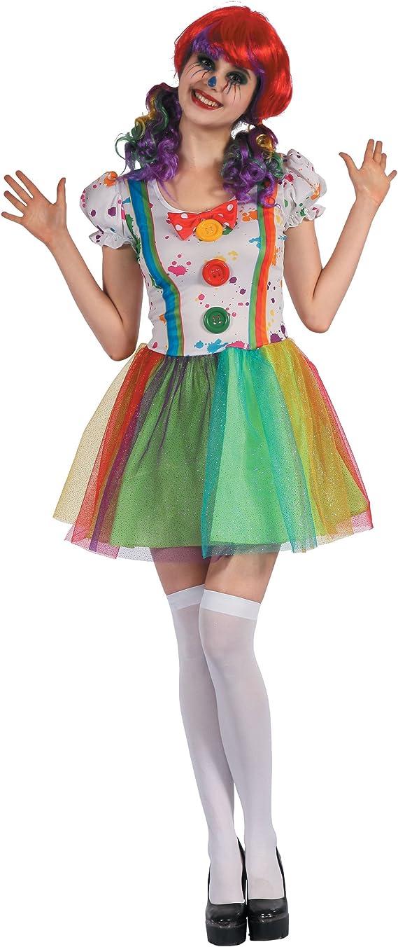Generique - Disfraz de Payaso Pintor Multicolor Mujer M: Amazon.es ...