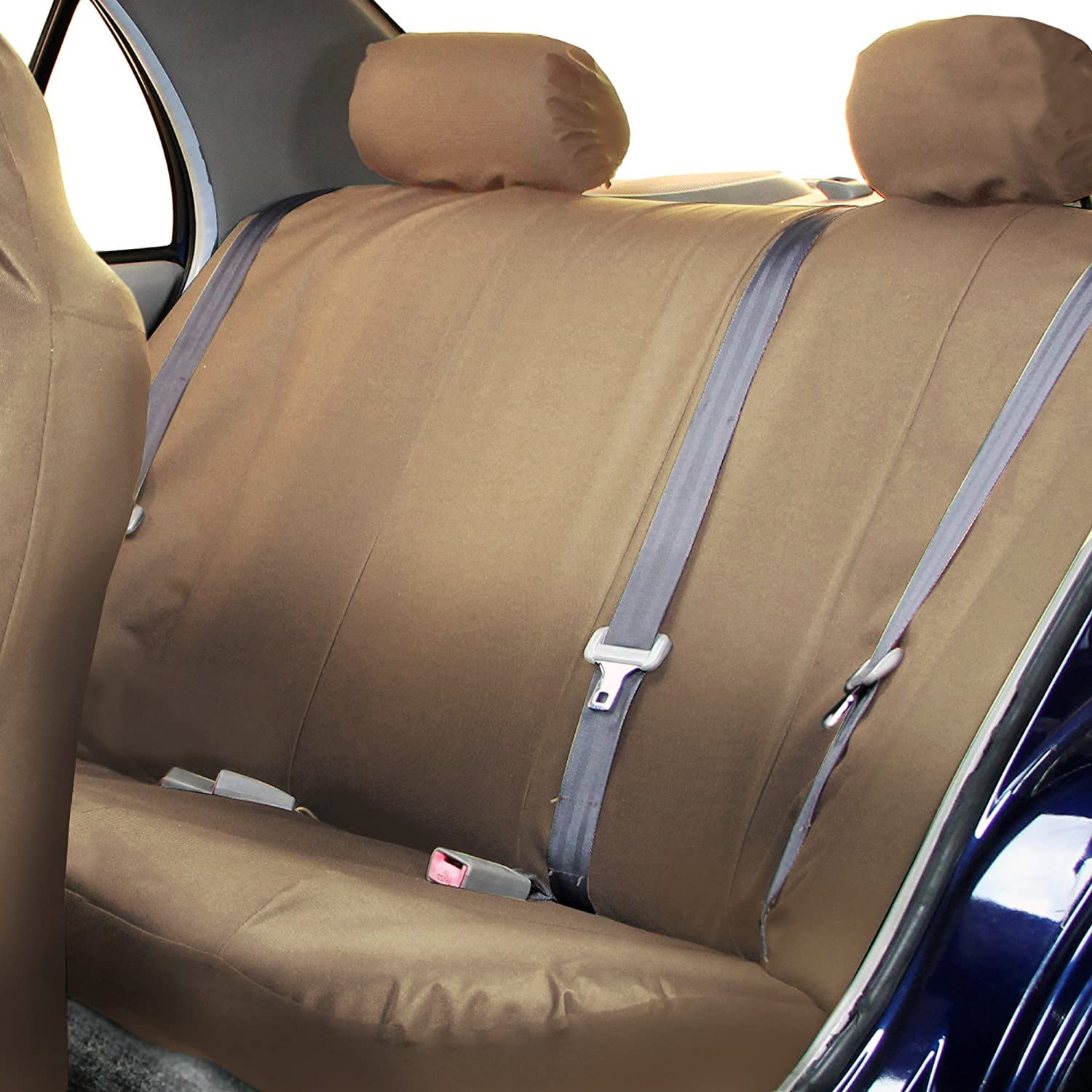 Full Set High Back Water Resistant FH Group FB113BEIGE114 Tan Rugged Oxford Car Seat Cover