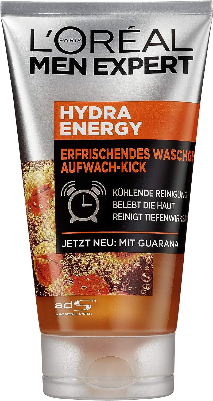 L Oréal Men expert Hydra para despertar de Kick – Gel de limpieza, 3 Pack (3 x 150 g): Amazon.es: Salud y cuidado personal