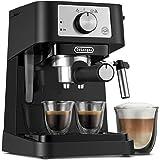 De'Longhi Stilosa Máquina de espresso manual, cafetera de café y capuchino, 15 bares a presión + espumador manual de…