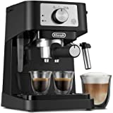 De'Longhi Stilosa Manual Espresso Machine, Latte & Cappuccino Maker, 15 Bar Pump Pressure + Manual Milk Frother Steam Wand, B