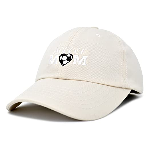 0af9101510156 DALIX Soccer Mom Baseball Cap Womens Dad Hats Adjustable Hat Mothers Day  Beige