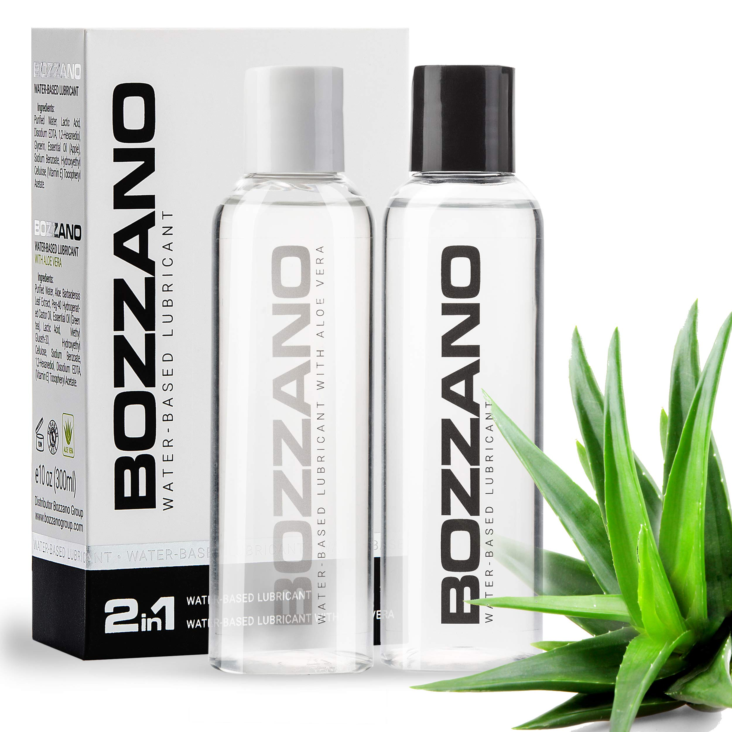 Lube for Women Men Couples - Personal Lubricant - 10 oz- Intimate Lubricants - Natural Lubricant - Organic Lube - Water-Based Lubricant - Aloe lube by BOZZANO