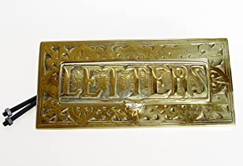 solid brass art nouveau quotlettersquot letter box cover letter box cover