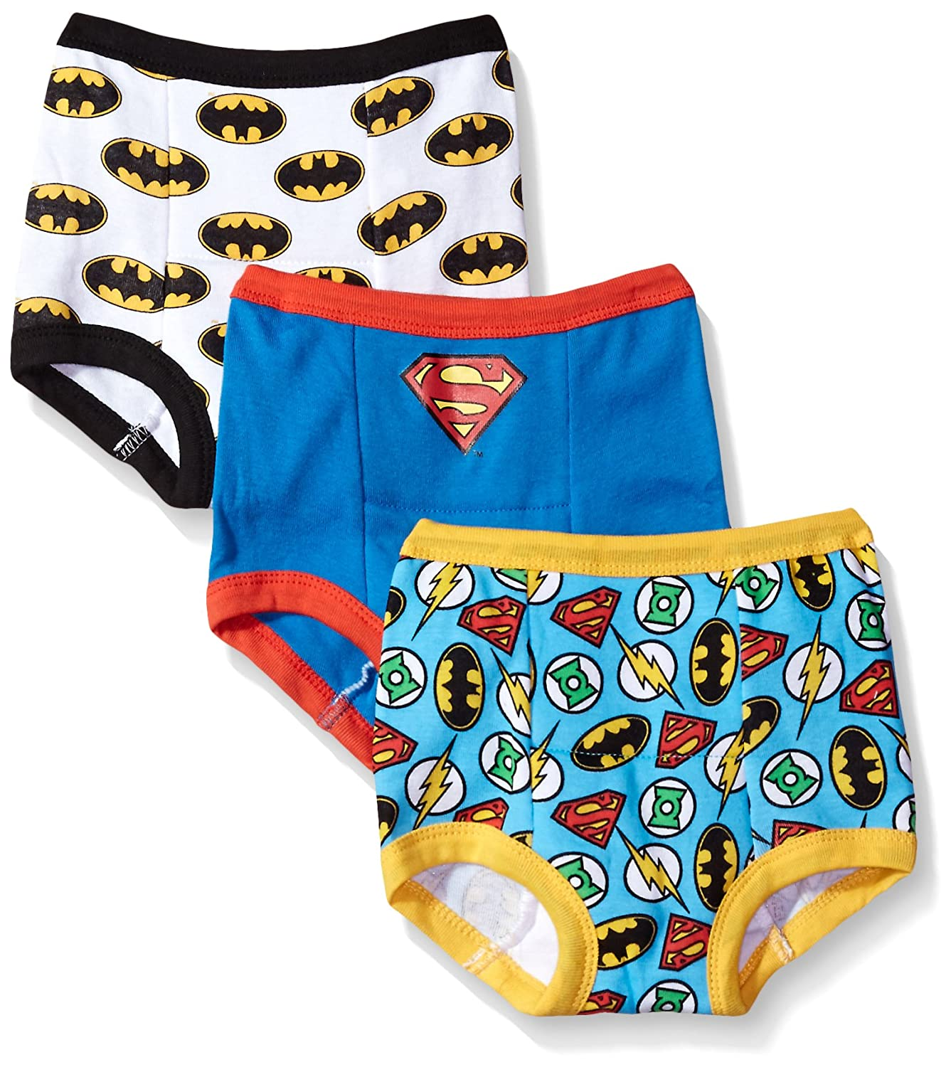 DC Comics Boys Toddler Boys Justice League Boy 3 Pack Training Pant JL Assorted Patterns 2T BTP1780