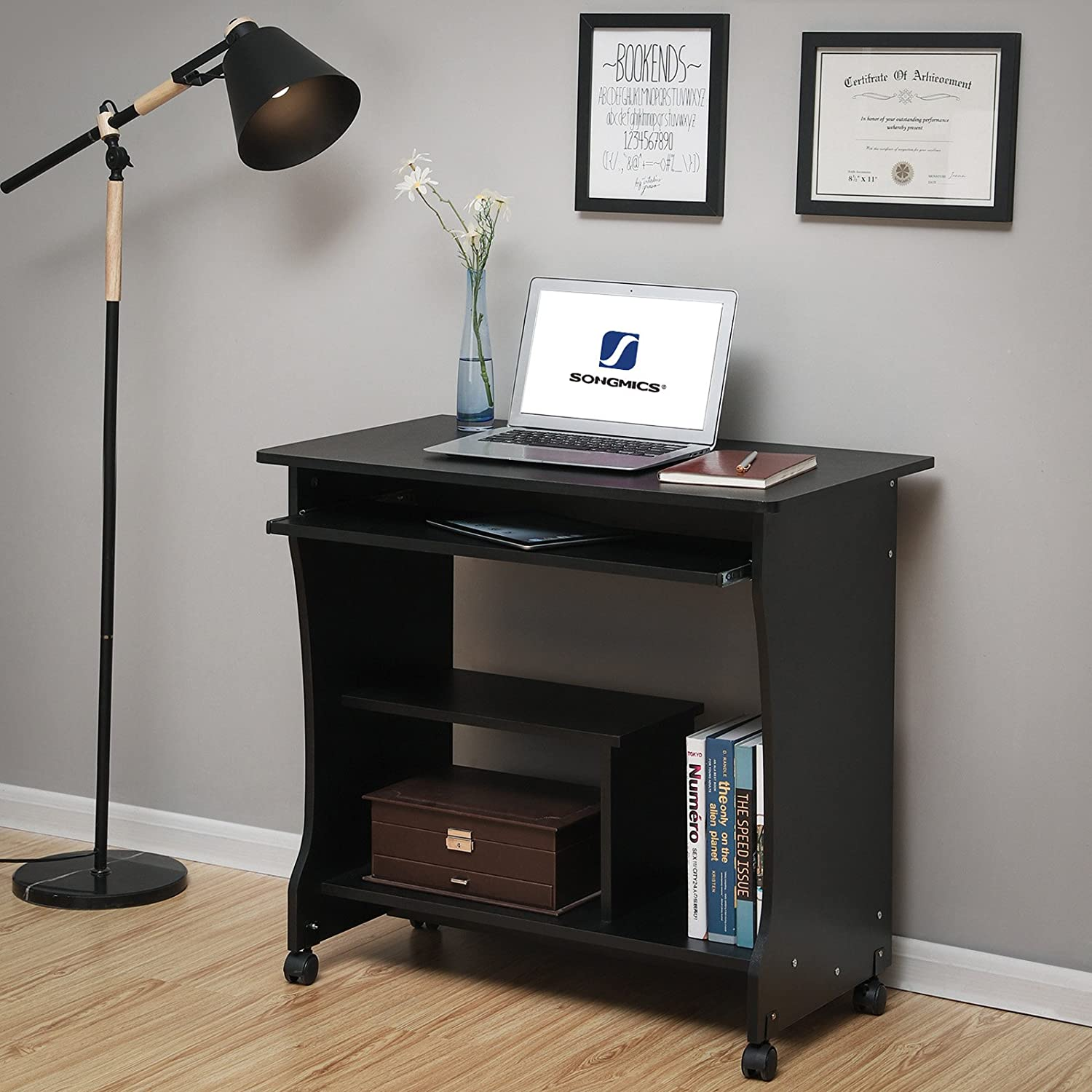 Songmics Movable Computer Desk Home Office Desk For Small Spaces