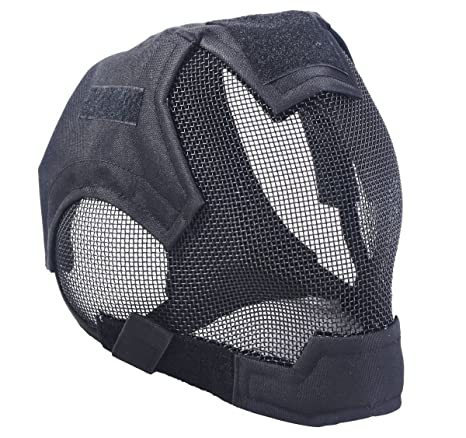 Back To Search Resultshome V6 Outdoor High Quality Steel Net Mesh Fencing Mask Full Face Protective Tactical Mask Cover Face Ears Airsoft Military Cosplay Comfortable And Easy To Wear