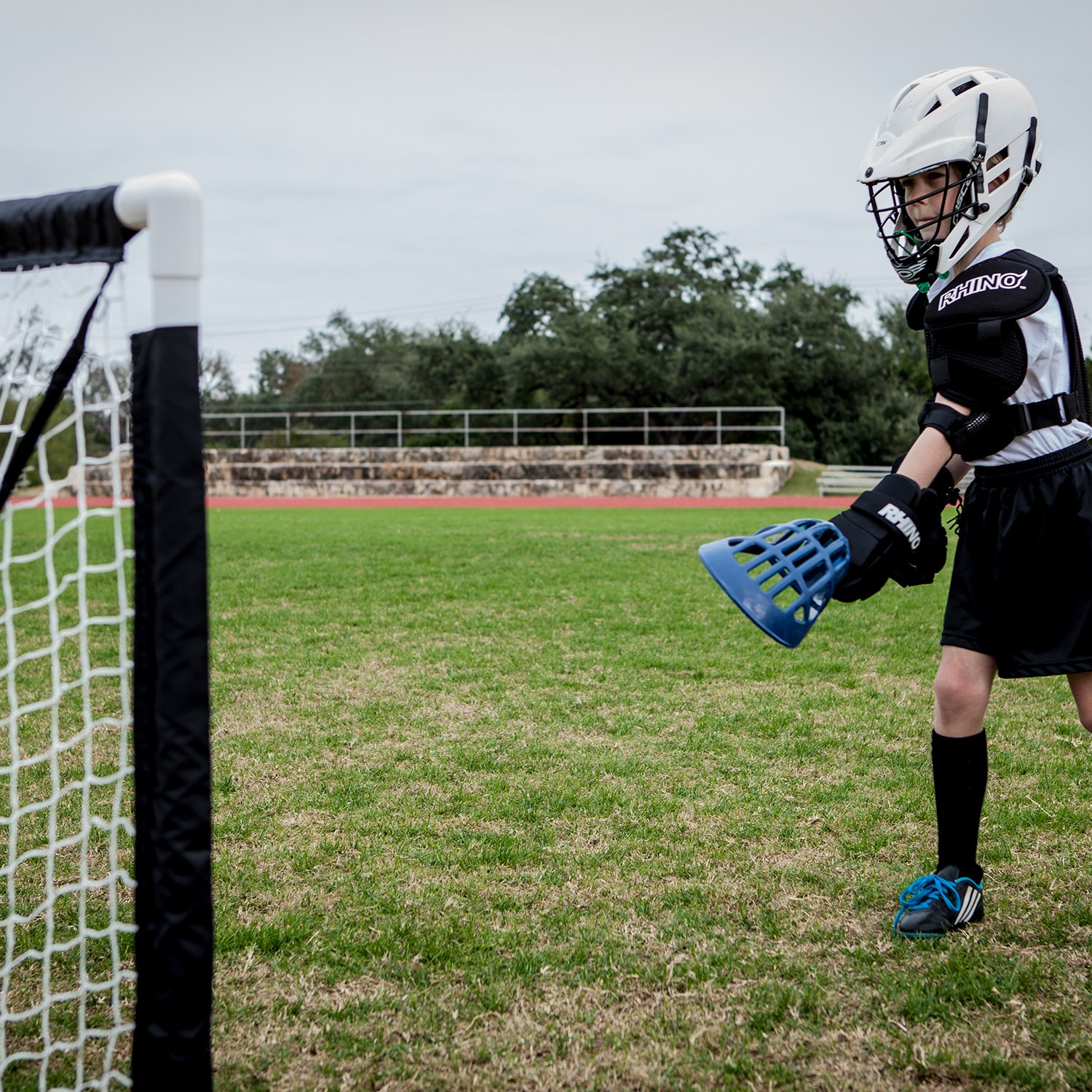 amazon com champion sports mini lacrosse goal kids gear