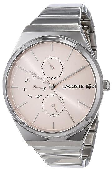 Lacoste Reloj Analógico para Mujer de Cuarzo con Correa en Acero Inoxidable 2001038: Amazon.es: Relojes