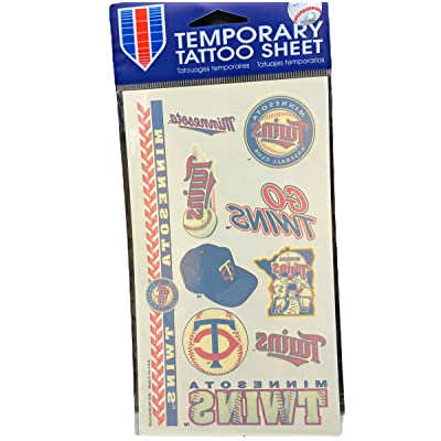 WinCraft MLB Minnesota Twins 14765010 Tattoos : Childrens Temporary Tattoos : Sports & Outdoors [5Bkhe1201468]