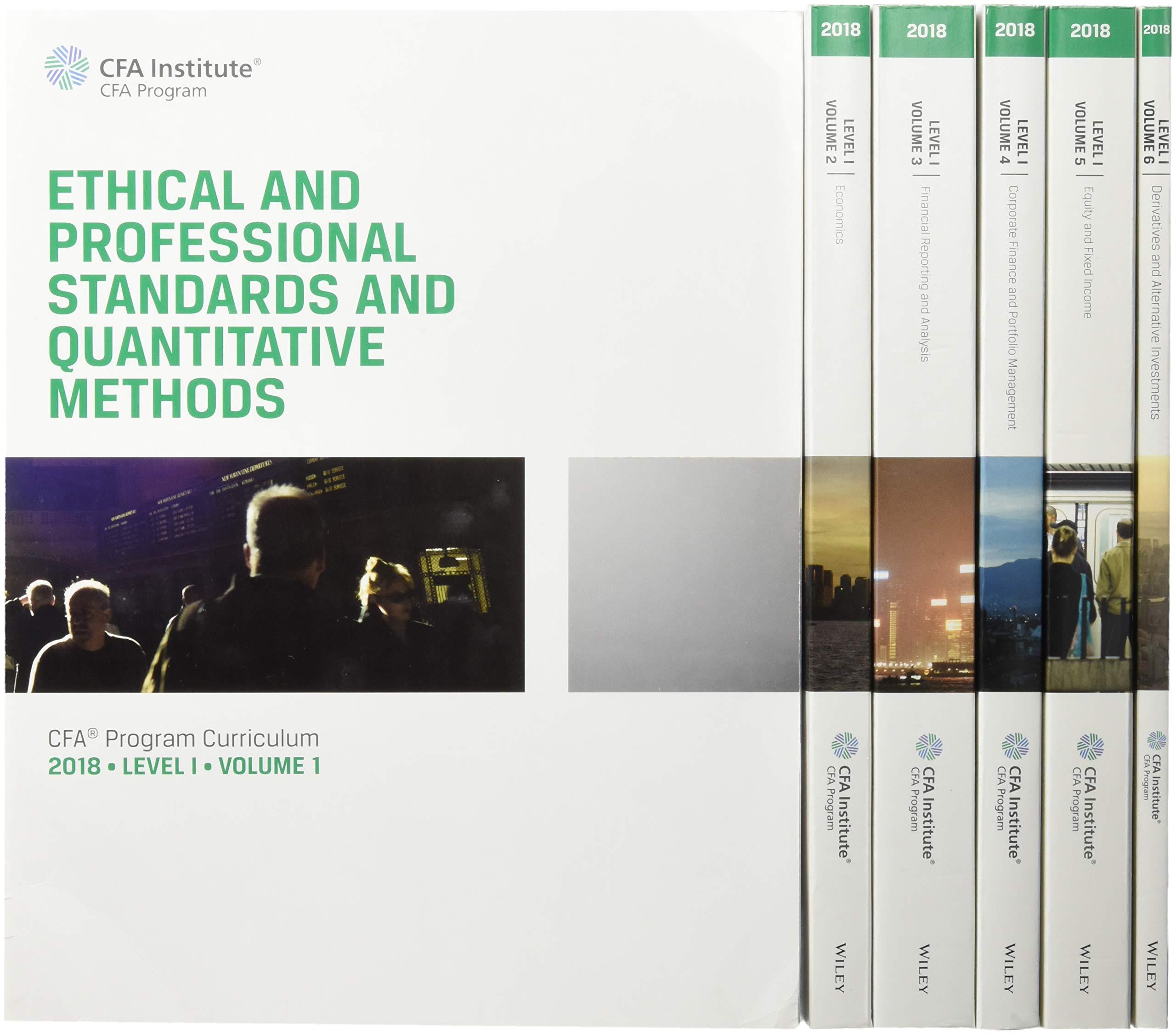 CFA Program Curriculum 2018 Level I: Volumes 1 - 6 Box Set CFA ...