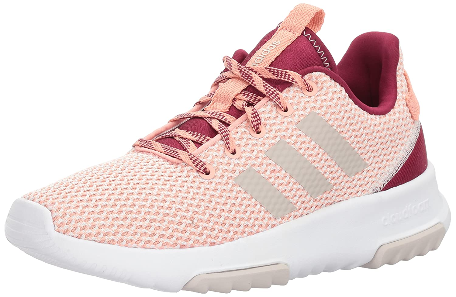 wholesale dealer dc8e4 dbd62 Amazon.com | adidas NEO Women's Cf Racer Tr W Road-Running-Shoes, Trace  Pink/Pearl Grey/Mystery Ruby, 9 Medium US | Running