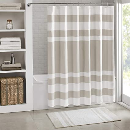 Madison Park MP70 1483 Spa Waffle Shower Curtain 72x72 Taupe