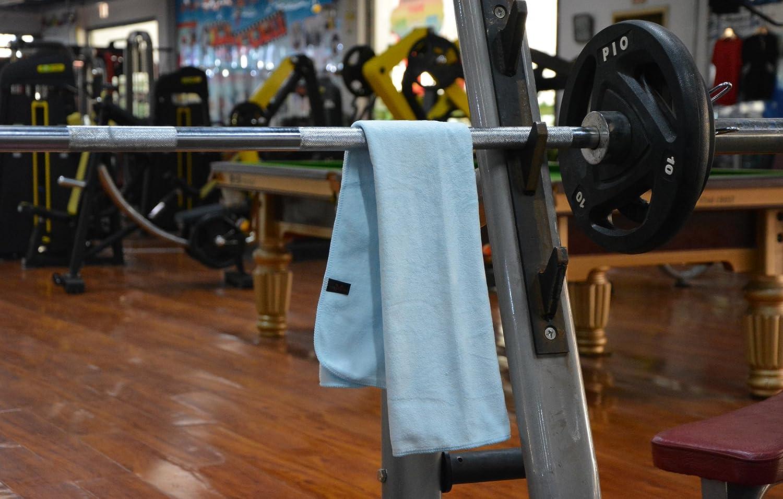 Hope Shine juego de toallas gimnasio microfibra secado r/ápido toallas deportivas suaves Paquete de 3 40cm X80cm Azul oscuro +Azul claro +Gris