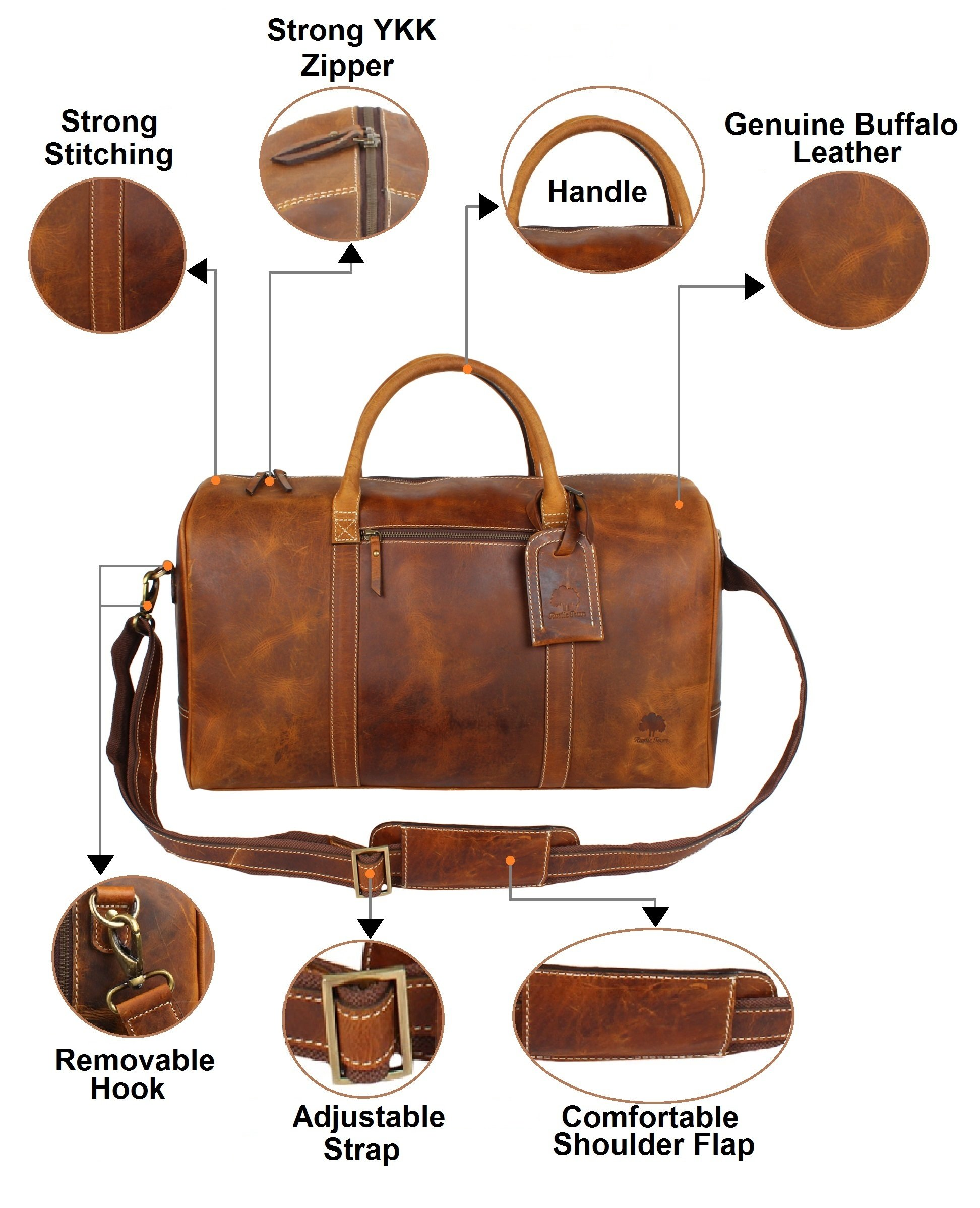 Leather Carry On Bag - Airplane Underseat Travel Duffel Bags By RusticTown e0bbceadd9298
