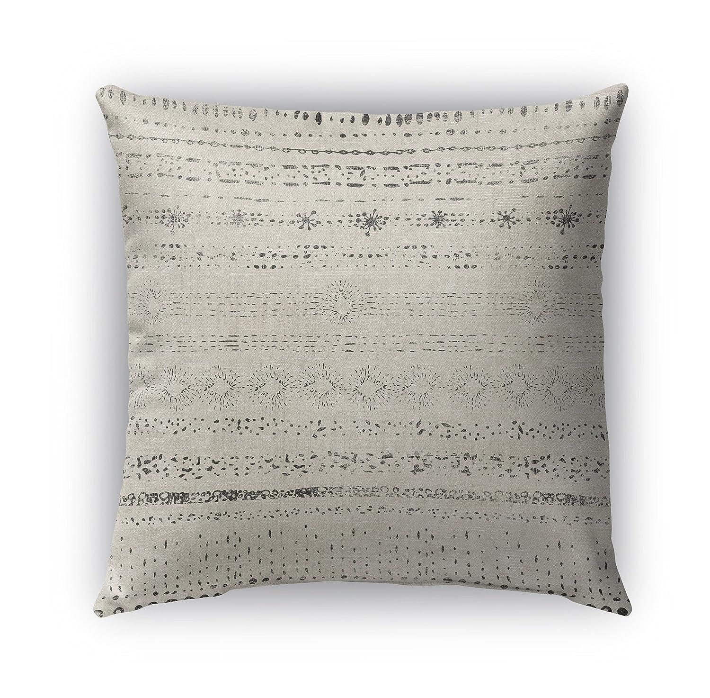 KAVKA Designs Novara Indoor-Outdoor Pillow, Size: 16X16X6 - TELAVC1489OD16 - Encompass Collection Beige//Grey