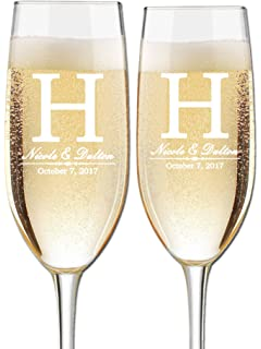 amazon com personalized champagne flute engraved with your custom