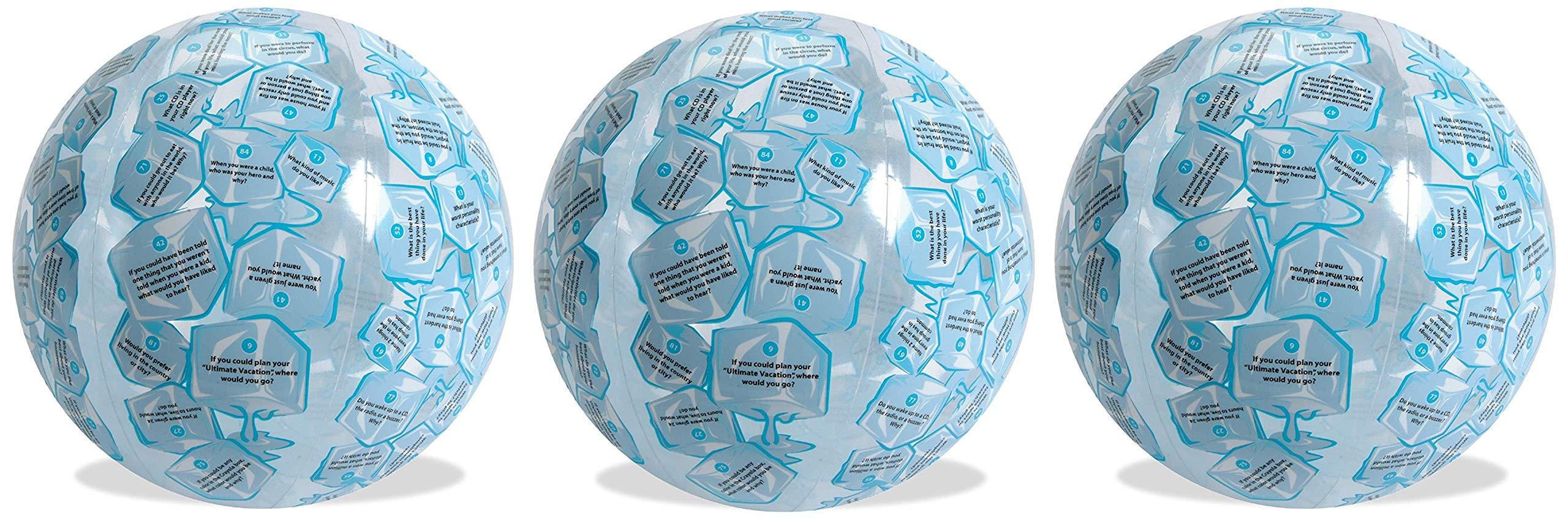 American Educational Vinyl Clever Catch Ice Breaker Intermediate Ball, 24'' Diameter (Тhree Pаck)