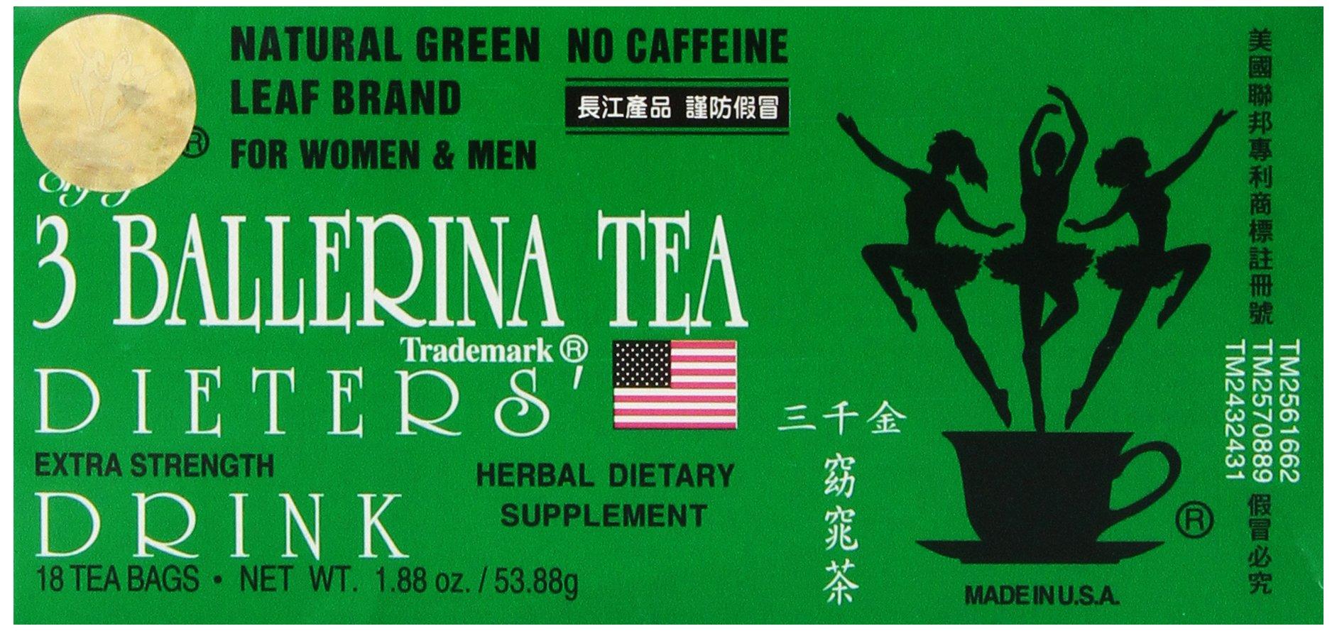 3 Ballerina Tea Dieters Drink, Extra Strength
