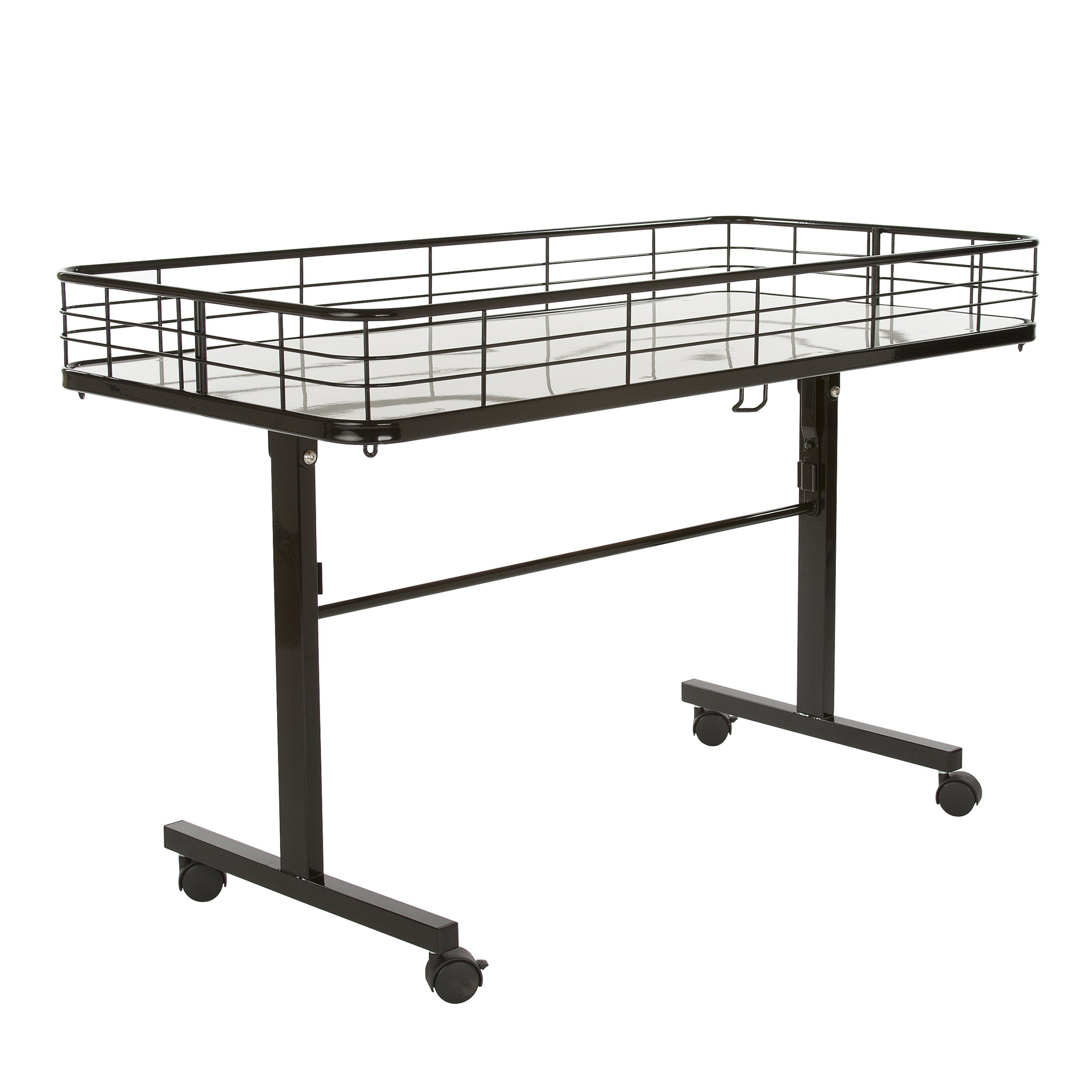 Econoco Commercial Folding Dump Table, Black