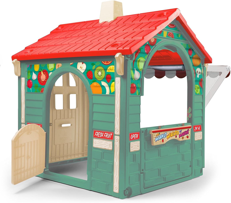 INJUSA Casita de Juguete Market House con Toldo y Persiana para Niños de 3 años con App Educativa de Realidad Aumentad Casa, Multicolor, 29 cm (2036): Amazon.es: Juguetes y juegos