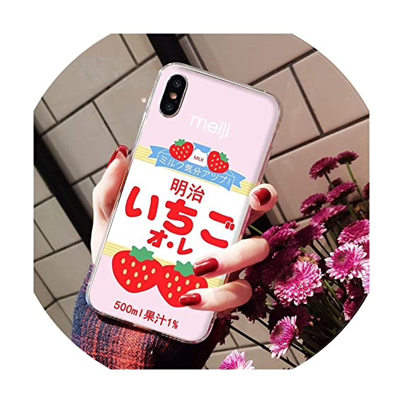 Summer Cute Strawberry Milk Diy Painted Beautiful Phone Case For Iphone 8 7 6 6s Plus X Xs Max 5 5s Se Xr I For Iphone 8 Plus