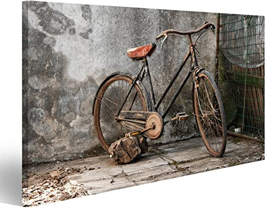 islandburner Cuadro Vieja Bicicleta oxidada sobre un Fondo Grunge ...