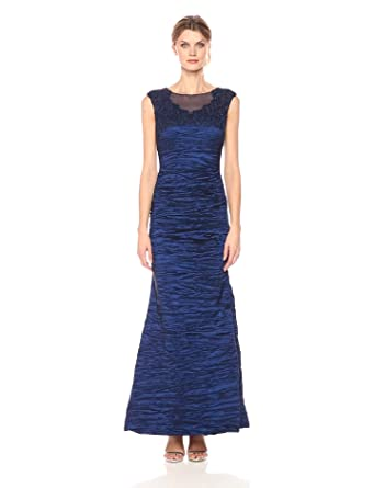 Alex Evenings Women S Cap Sleeve Fit And Flare Dress With