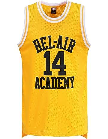 3048f5e09 MOLPE Smith  14 Bel Air Academy Yellow Basketball Jersey S-XXXL