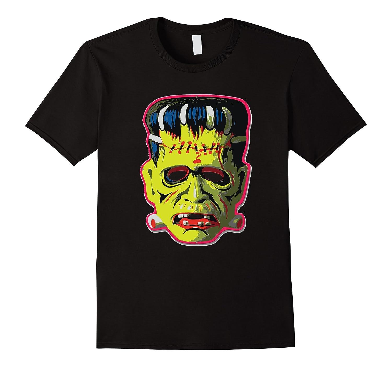 Vintage Frankenstein Cranky Franky Halloween Mask T-Shirt-TJ