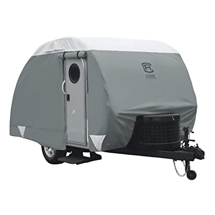 Classic Accessories OverDrive PolyPRO 3 Deluxe Teardrop Trailer Cover Fits 10