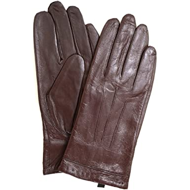 4329e7d60 Ladies Classic 3 Point Stitch Butter Soft Leather Glove with Warm Fleece  Lining, Brown -