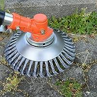 Scheibenschneiderkopf Stahldraht mit Knoten universell passend 15,2 cm gerader Schaftschneider f/ür Sthil Honda etc. drehbar 25,4 mm x 150 mm BGTOOL Outdoor-Unkrautb/ürste