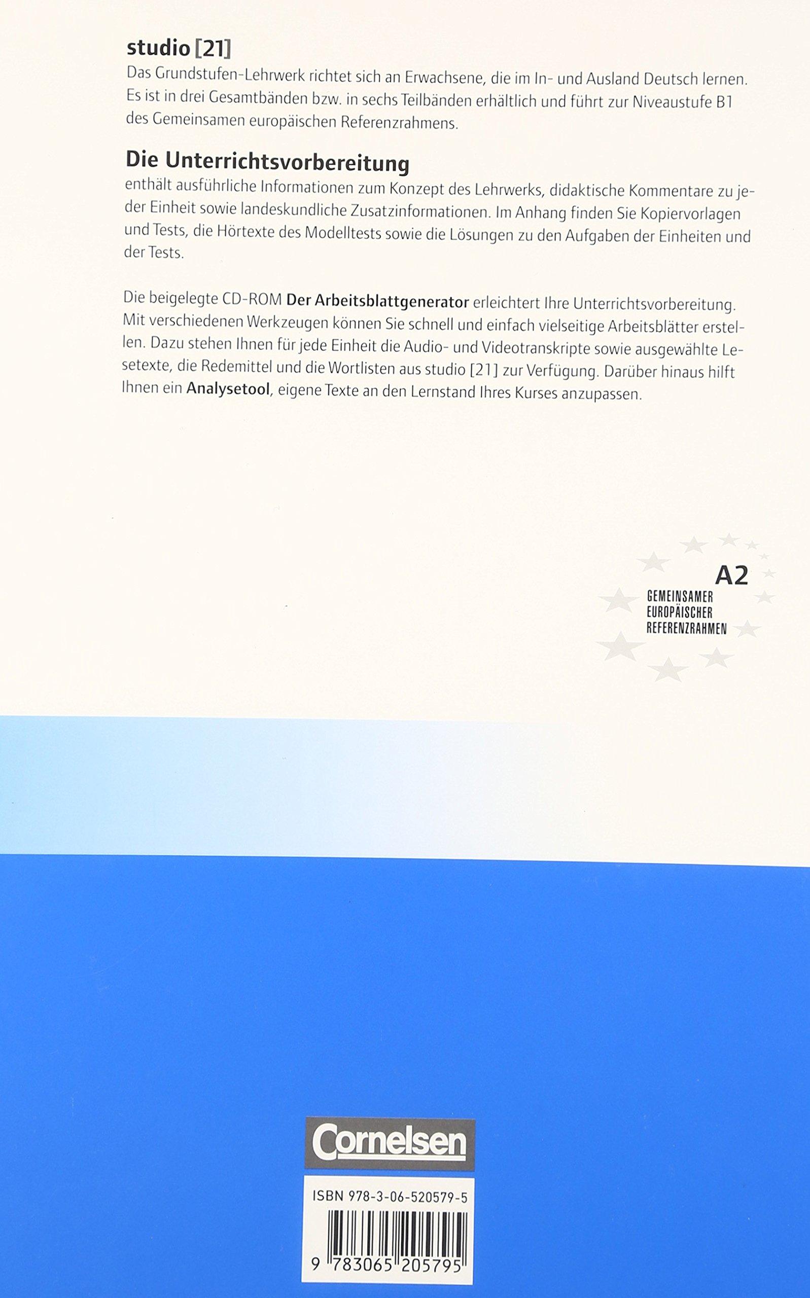 Studio 21: Unterrichtsvorbereitung A2 (Print): Jane Cadwallader ...