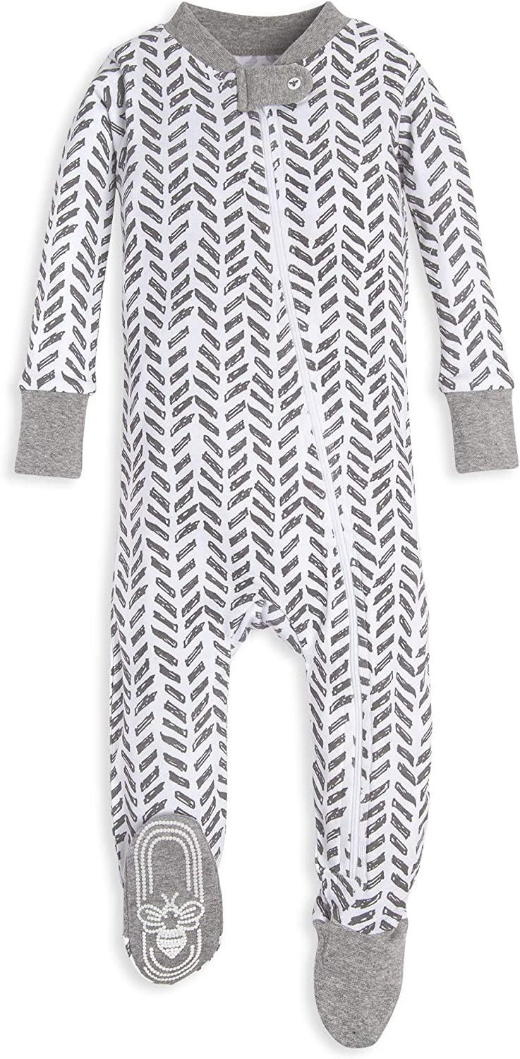 Zip-Front Non-Slip Footed Sleeper Pjs Burts Bees Baby Baby Boys Unisex Pajamas Organic Cotton