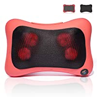 SULIVES Shiatsu Back and Neck Massager, Massage Pillow with Heat for Muscle Pain...