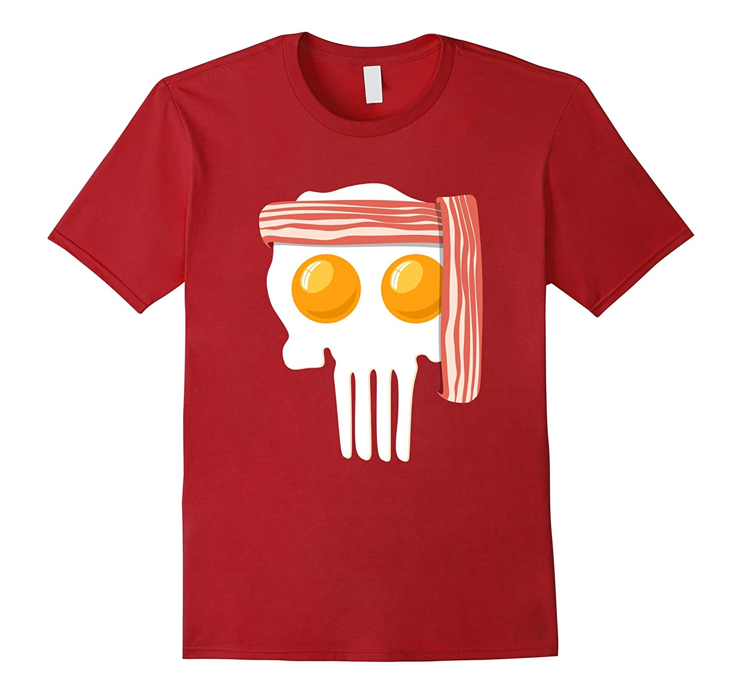 Scary Bacon and Egg T Shirt - Halloween Egg and Bacon Shirt-FL