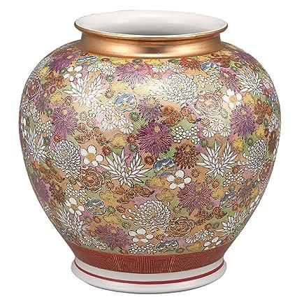 Amazon Kutani Yakiware Vase Gold Flowers Home Kitchen