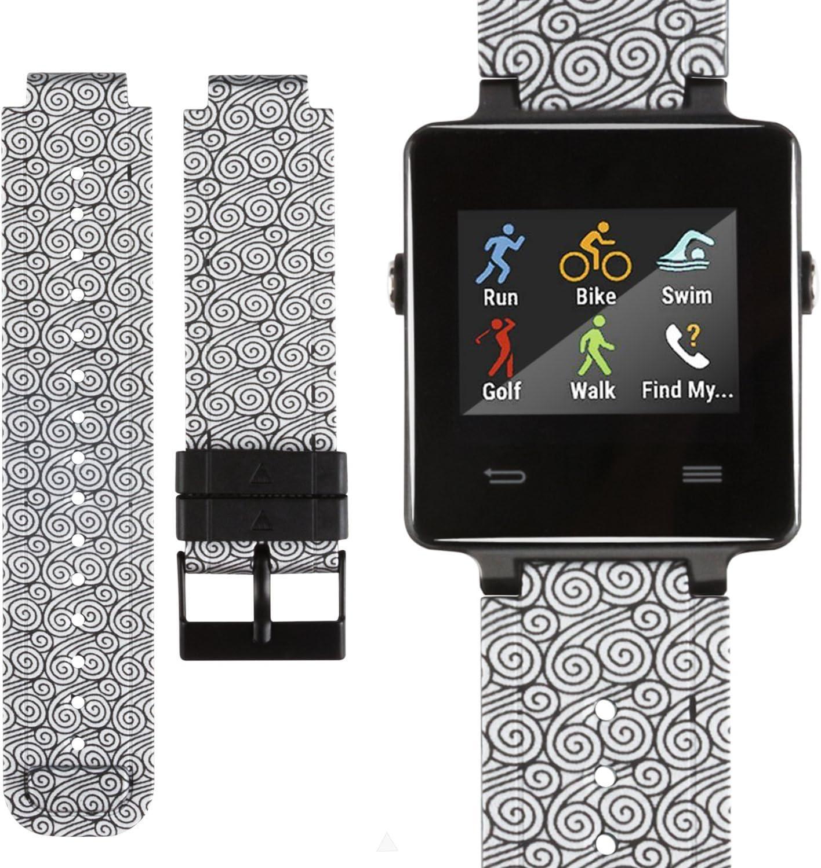 for Garmin Vivoactive Bands Soft Silicone Replacement Watch Band for Garmin Vivoactive Smartwatch Women Men(Not Fit Garmin Vivoactive Hr
