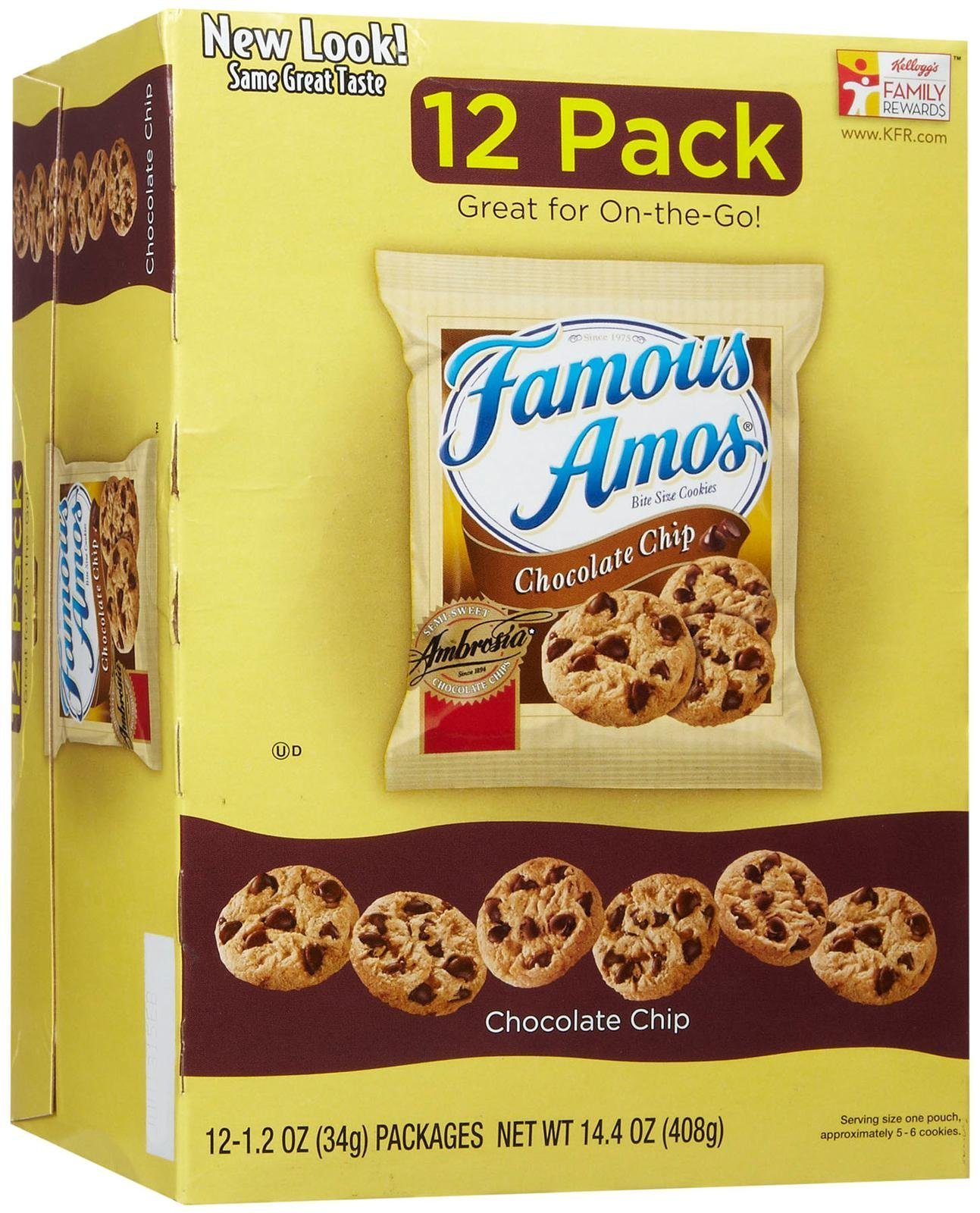 Famous Amos Chocolate Chip Cookies - 12 PKS