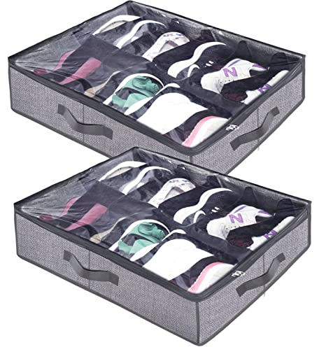 b447d9f95e Amazon.com  Homyfort Under The Bed Shoe Storage Organizer for Closet ...