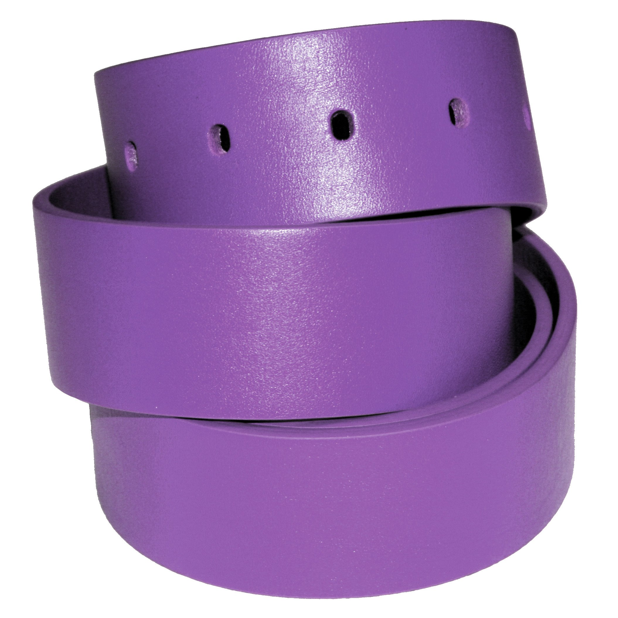 The White Ball Men's Genuine Italian Leather 40mm Strap only for Pride Buckle, Purple