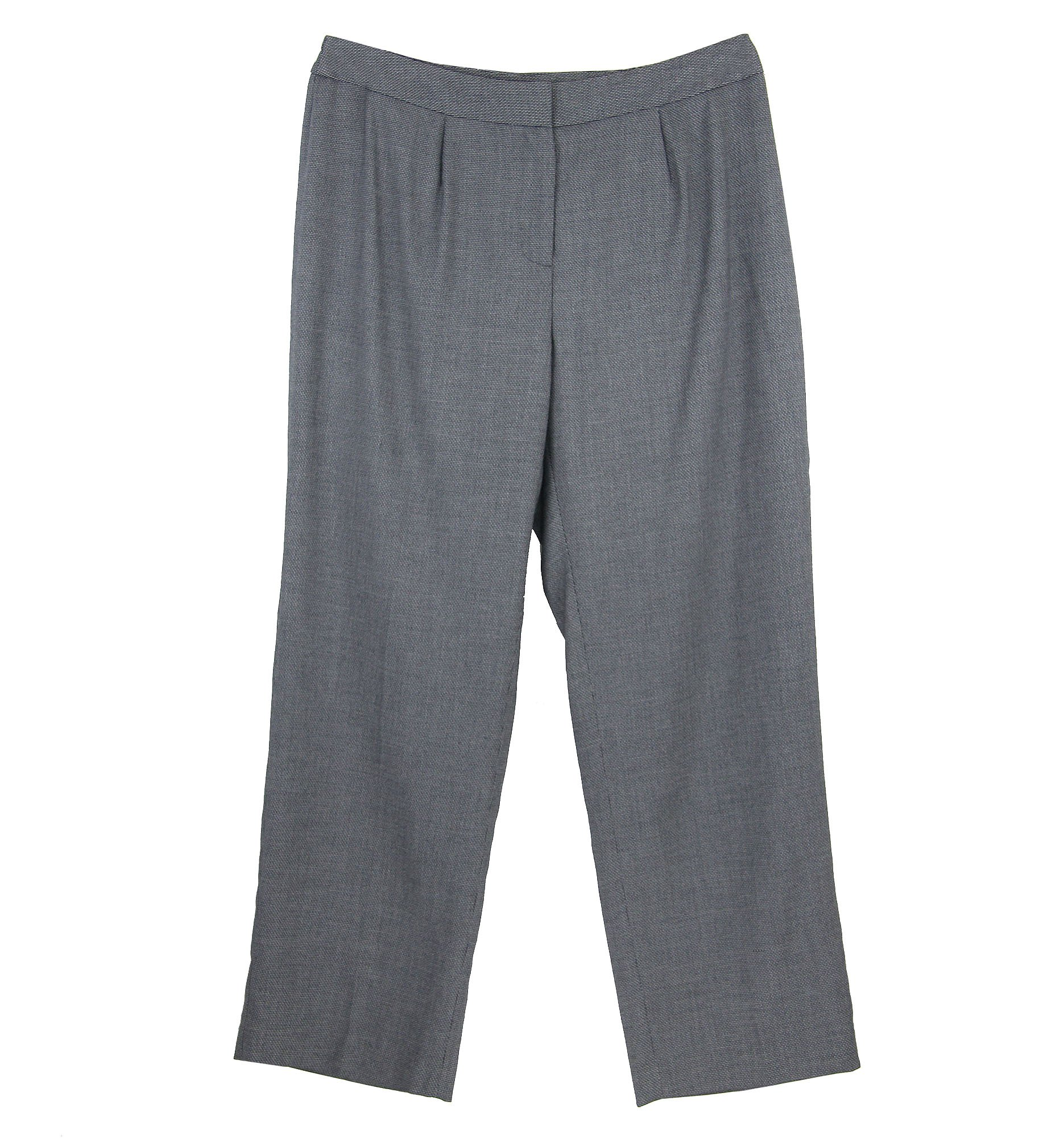 Jones New York Women's Plus Straight Leg Dress Pants 14w Petite Platinum