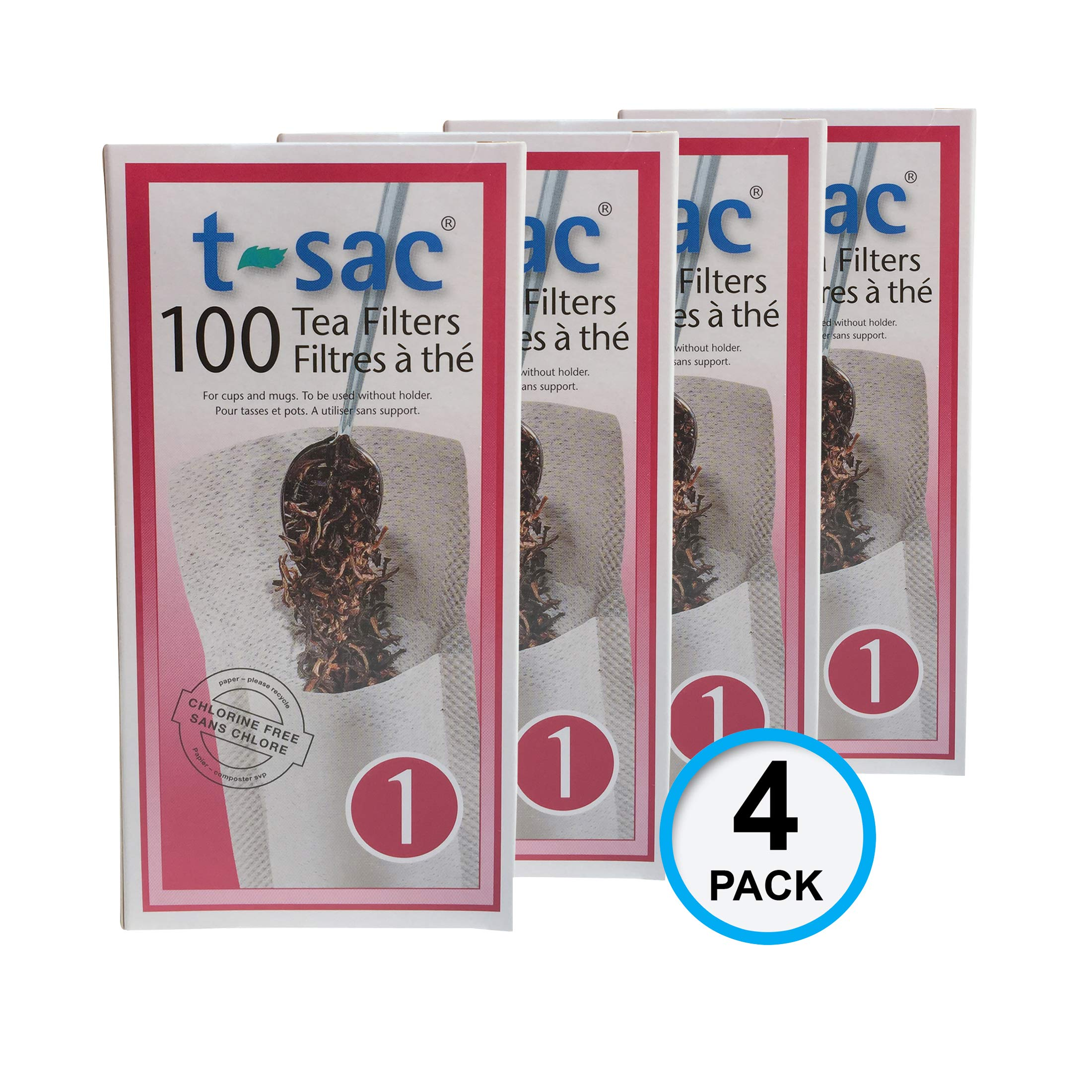 Modern Tea Filter Bags, Disposable Tea Infuser, Size 1, Set of 400 Filters - 4 Boxes - Heat Sealable, Natural, Easy to Use Anywhere, No Cleanup - Perfect for Teas, Coffee & Herbs - from Magic Teafit by Magic Teafit