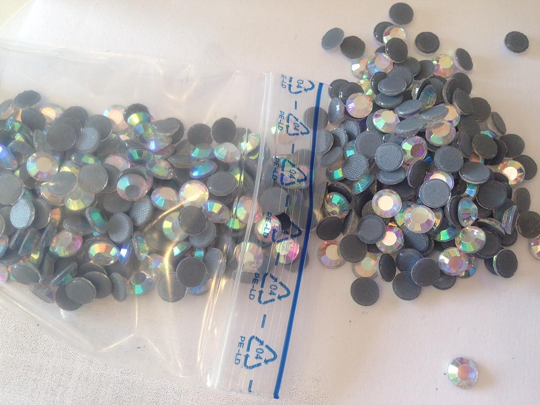 6MM TERMOADESIVI HOTFIX Aurora BOREALE QUALITA KOREANA per Tessuti e decori Rhinestone HTF AB Crystal Borealis BrillaBenny 500 Strass SS30