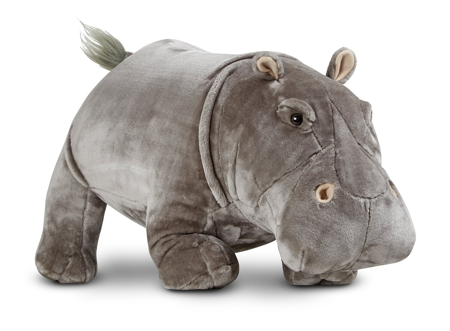 Melissa Doug Giant Hippopotamus Lifelike Stuffed Animal over 2 feet long