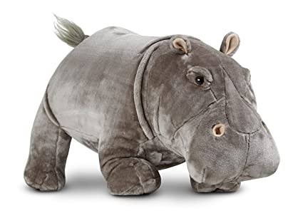 Amazon Com Melissa Doug Giant Hippopotamus Lifelike Stuffed