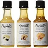 Amoretti Premium Creamy Classic Syrups 1.7-Fluid-Ounce, 3-Pack Bottles